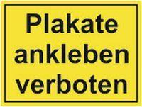Plakate ankleben verboten