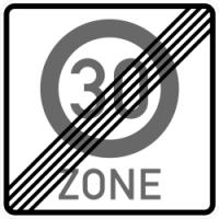 VZ 274.2 Ende einer Tempo 30-Zone