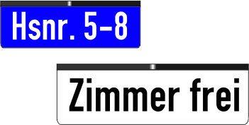 Hausnummern/Hinweisschilder bis 5 Zeichen