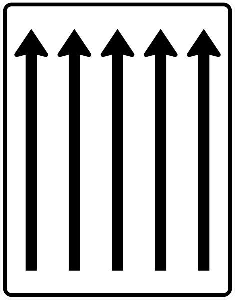 VZ 521-33 Fahrstreifentafel