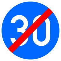 VZ 279 Ende der vorgeschriebenen Mindestgeschwindigkeit