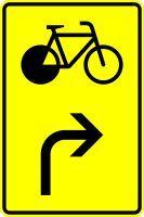 VZ 442-23 Vorwegweiser für Radverkehr, rechtsweisend