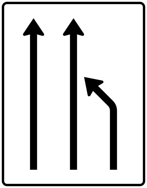 VZ 531-11 Einengungstafel