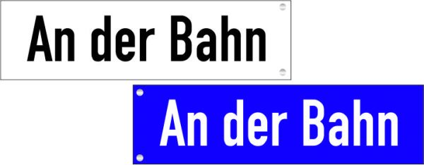 Straßennamenschilder einseitig bis 20 Zeichen