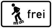 VZ 1020-13 Inline-Skaten und Rollschuhfahren frei