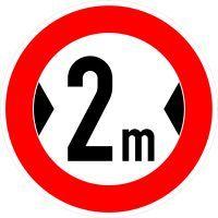 VZ 264 Verbot für Fahrzeuge über angegebene tatsächliche Breite