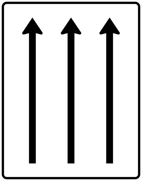 VZ 521-31 Fahrstreifentafel