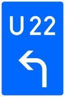 VZ 460-10 Bedarfsumleitung, Vorankündigung links