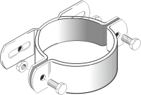 Rohrschelle Steglänge 70 mm