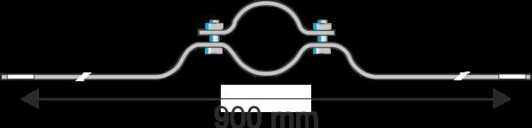 Rohrschelle Steglänge 900 mm