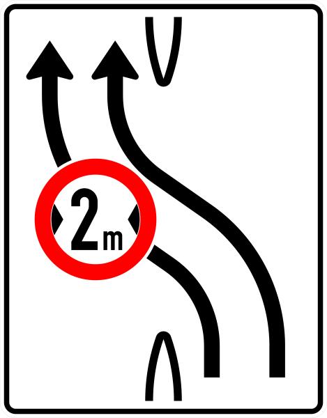 VZ 505-11 Überleitungstafel mit Zeichen 264