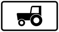 VZ 1010-61 Kraftfahrzeuge und Züge, die nicht schneller als 25 km/h fahren können oder dürfen